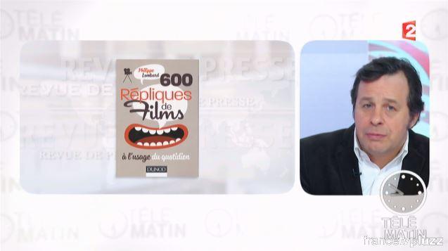 """Les """"600 répliques..."""" à Télé Matin"""