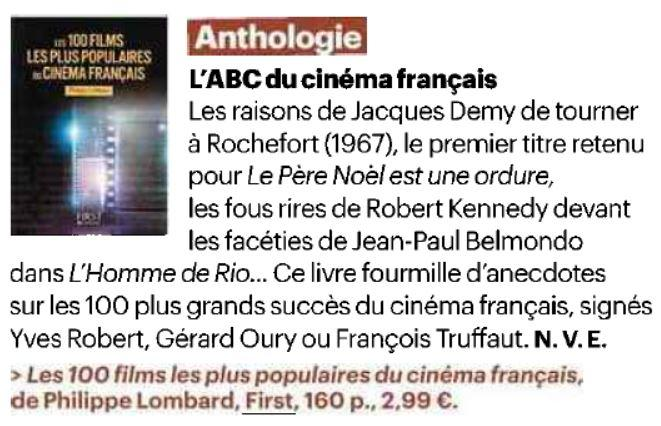 Article parisien 100 films